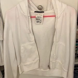 Brandy cropped zip up